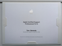 Apple Certified Support Professional Tom Berends