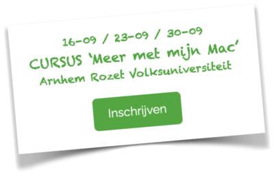 Apple computer cursus / Volksuniversiteit Arnhem / September 2021